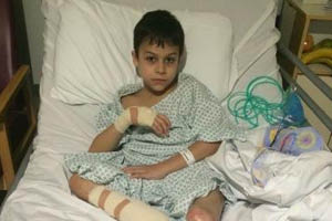 Life changing surgery for war wounded child