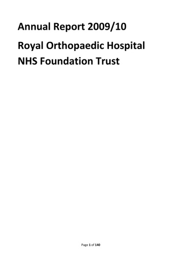 Annual Report and Accounts 2009/10