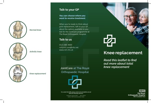 Jointcare: knee replacement leaflet