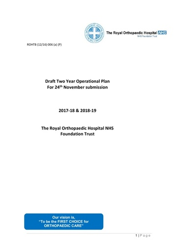 Two Year Operational Plan 2017-19