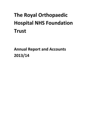 Annual Report and Accounts 2013/14