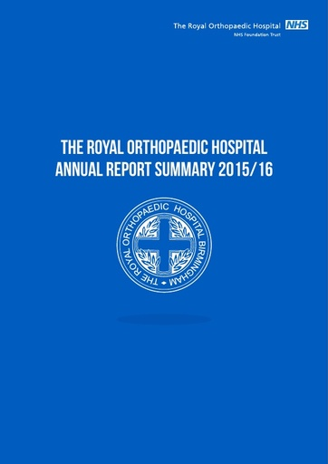 Annual report 2015/16 summary