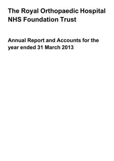 Annual Report and Accounts 2012/13