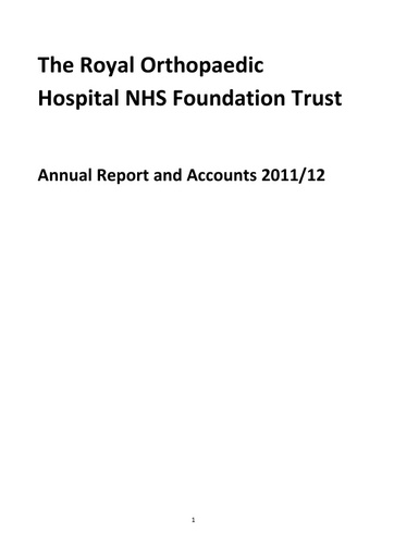 Annual Report and Accounts 2011/12