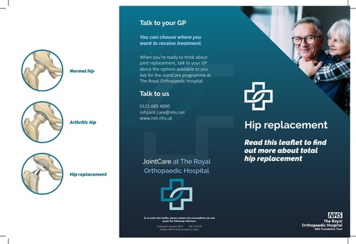 Jointcare: hip replacement leaflet