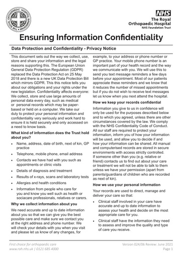Ensuring Information Confidentiality