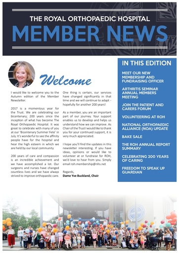 Member News Autumn 2017