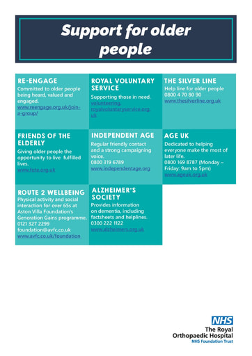 Support for older people