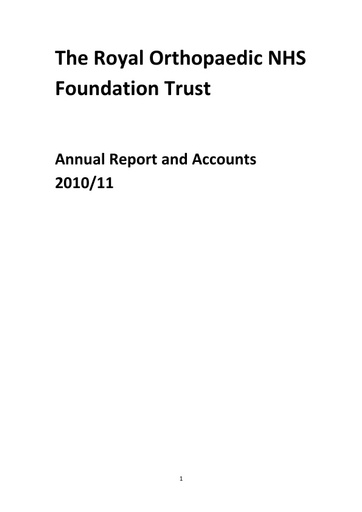 Annual Report and Accounts 2010/11