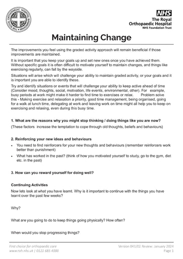 Maintaining Change