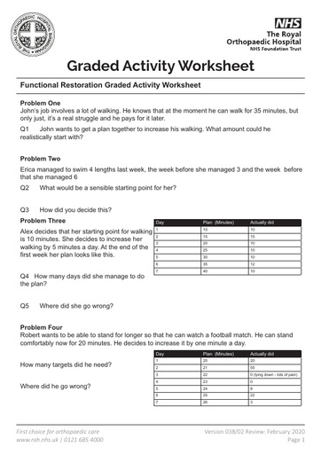 Graded Activity Worksheet