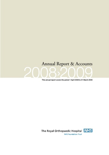 Annual Report and Accounts 2008/09