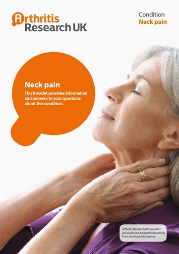 Neck pain information booklet