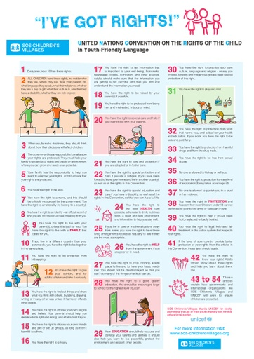 UNITED NATIONS CONVENTION ON THE RIGHTS OF THE CHILD In Youth-Friendly Language